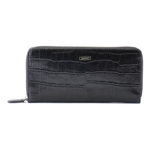Load image into Gallery viewer, Crocodile Embossed Leather Long Wallet