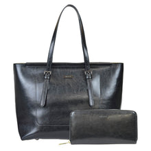 Load image into Gallery viewer, Most Fashionable Leather Tote Bag and Wallet Bundle
