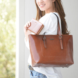 Most Fashionable Leather Tote Bag and Wallet Bundle
