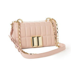 Leather Box Style Quilted Pochette