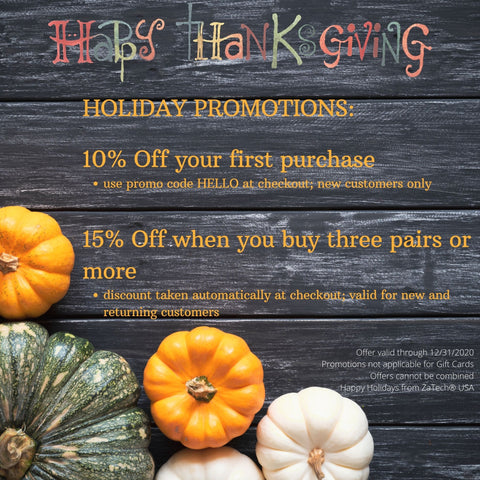 Thanksgiving promotion from ZaTech® Compression Socks