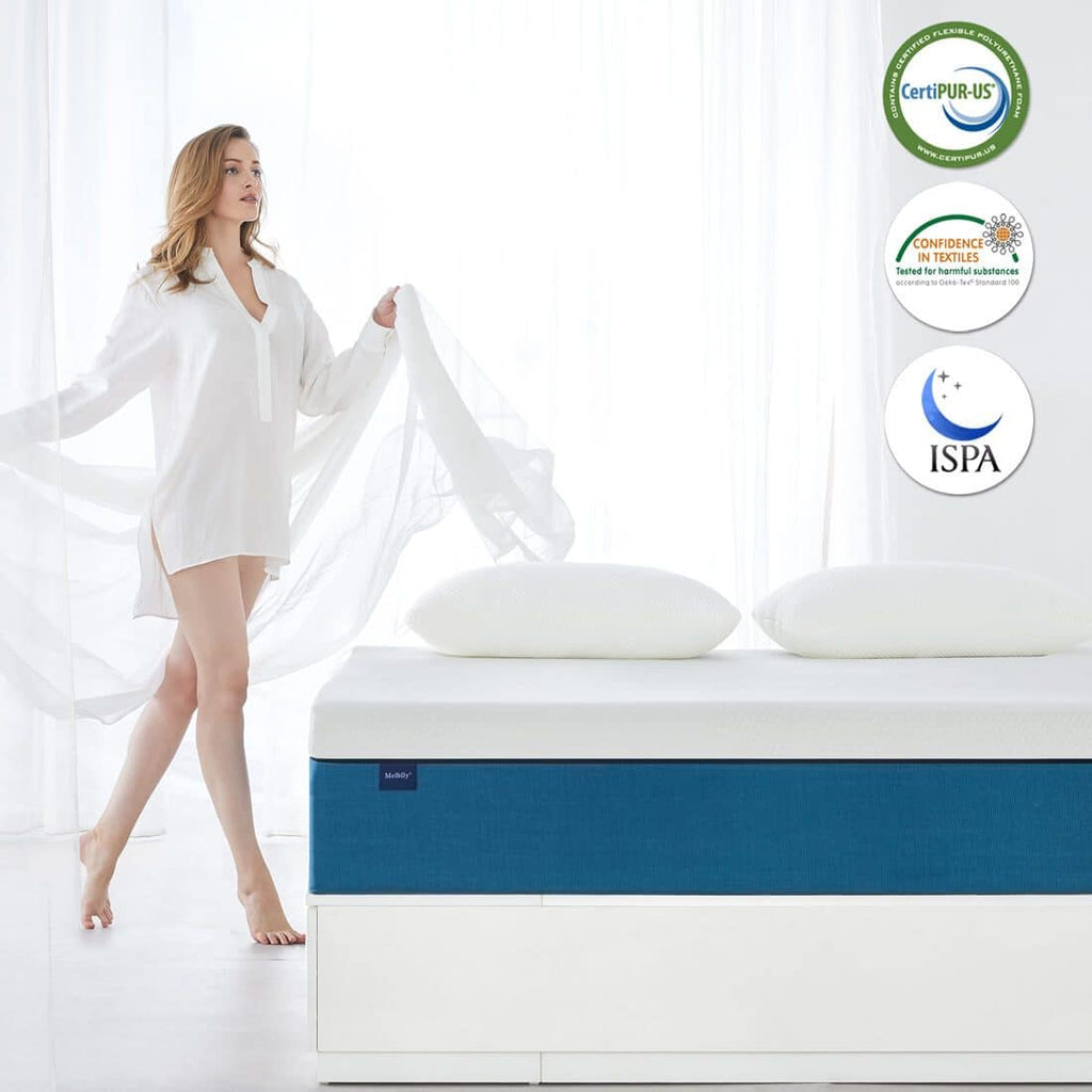 Cooling Gel Memory Foam Mattress |Medium Firm |Bed in a Box | Molblly