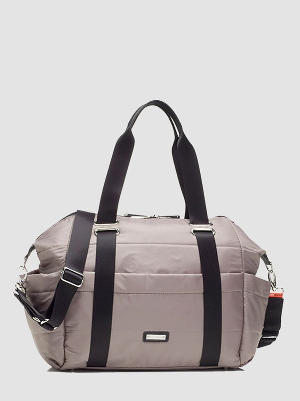 Storksak Sandy Taupe Changing Bag l Front View