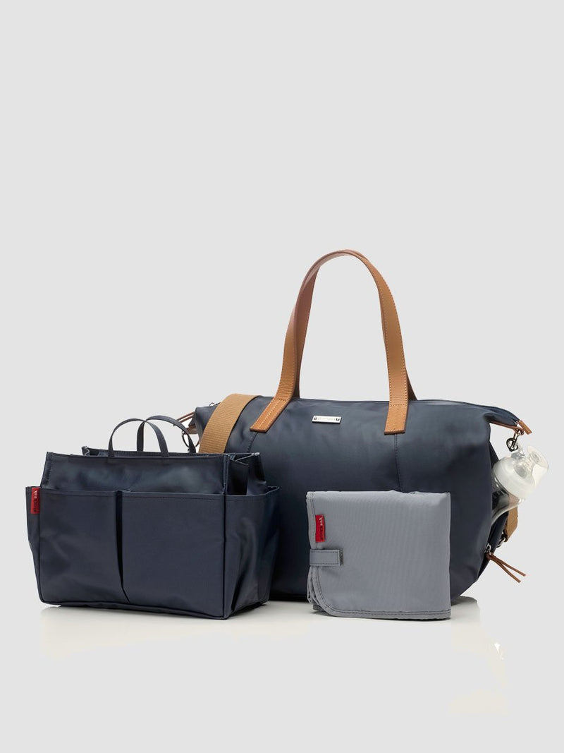 Storksak Noa Navy Changing Bag l With changing mat and mini organiser
