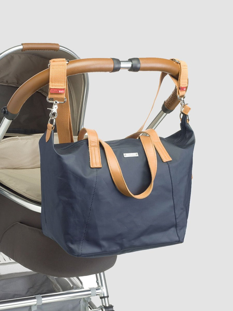 Storksak Noa Navy Changing Bag l Attached to stroller