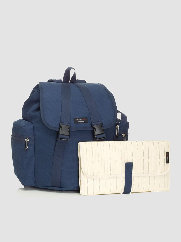 Storksak Backpack Navy Changing Bag l With changing mat