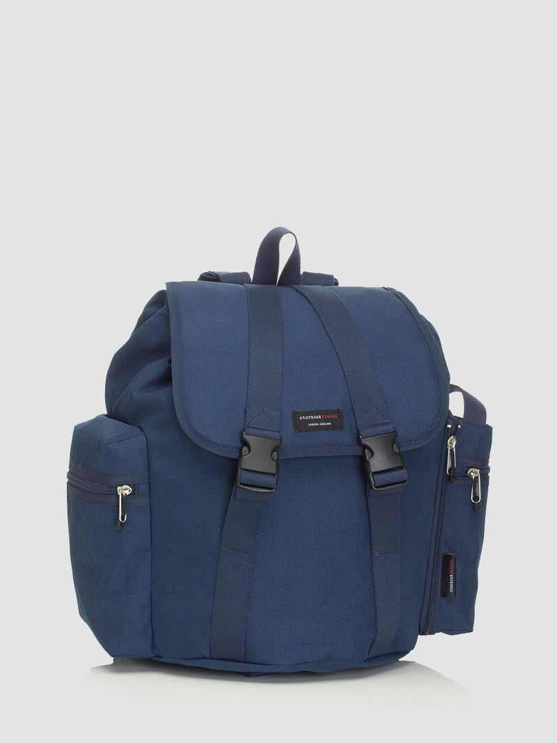 Storksak Backpack Navy Changing Bag l Front View