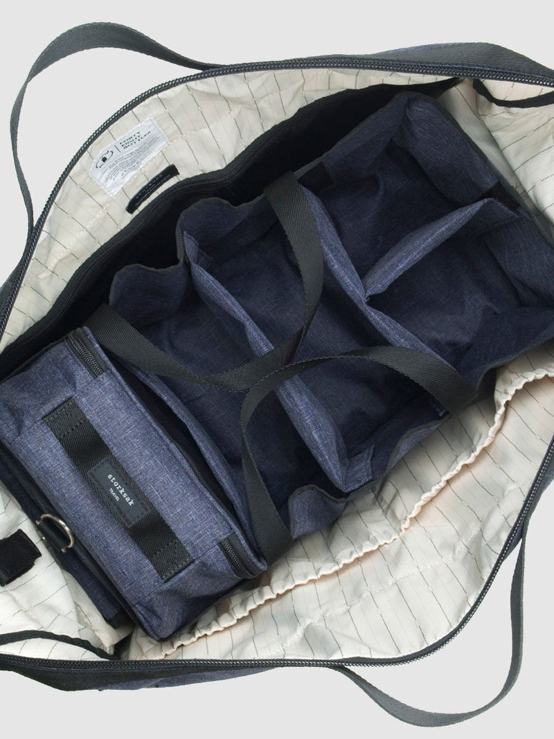storksak travel eco cabin carry-on navy, hospital bag with wheels, hanging organiser inside the bag