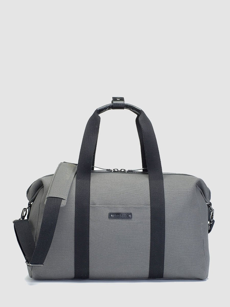 storksak bailey charcoal, hosptial & weekend bag, front view