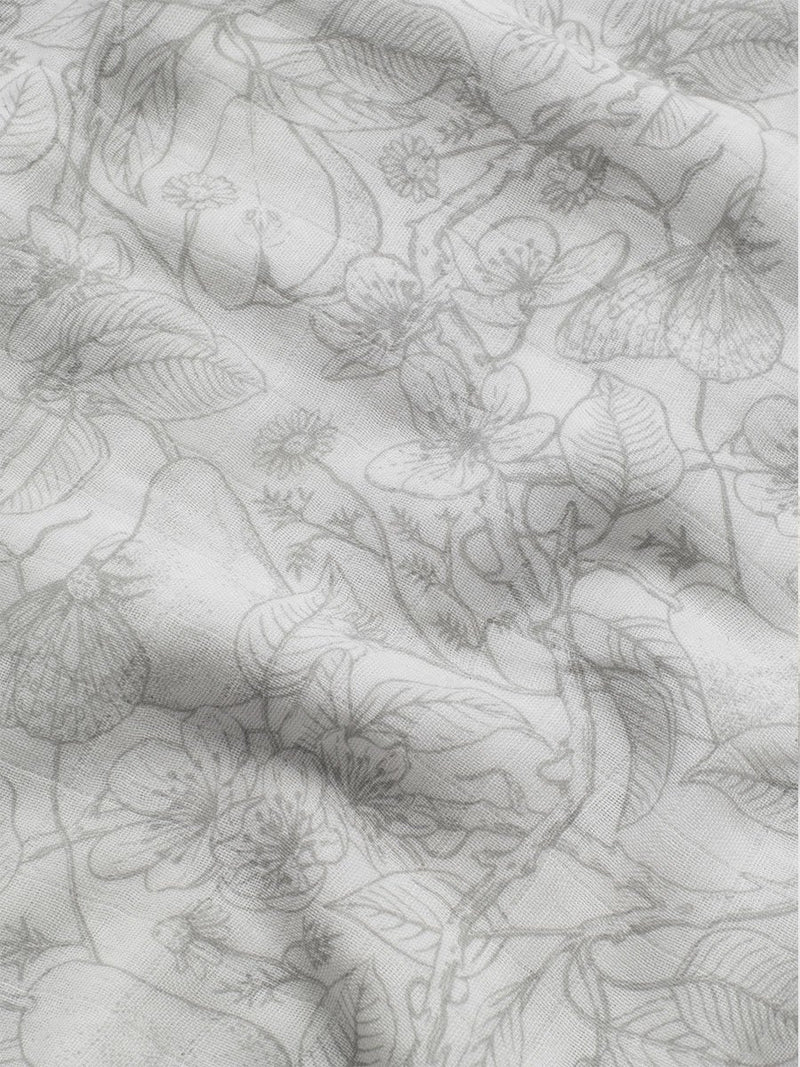 storksak muslin swaddle, 120cm x 120cm, garden print, close up of print