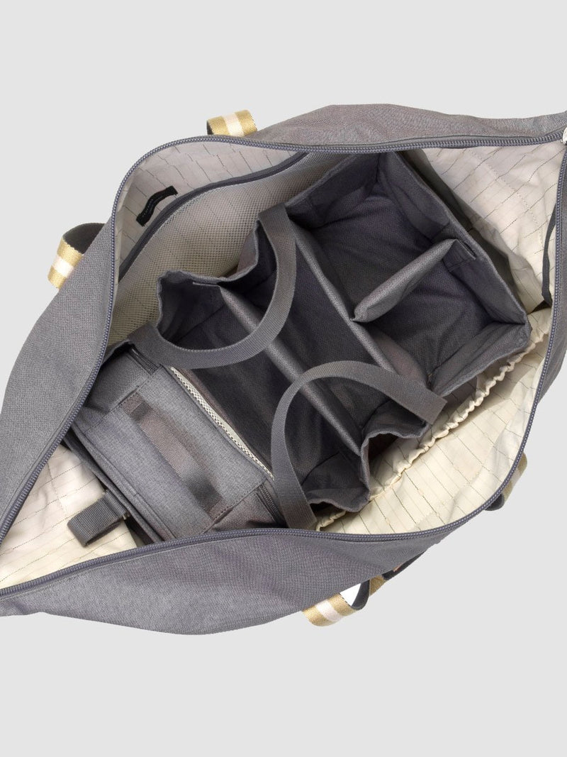 storksak travel hanging organiser grey, inside cabin bag