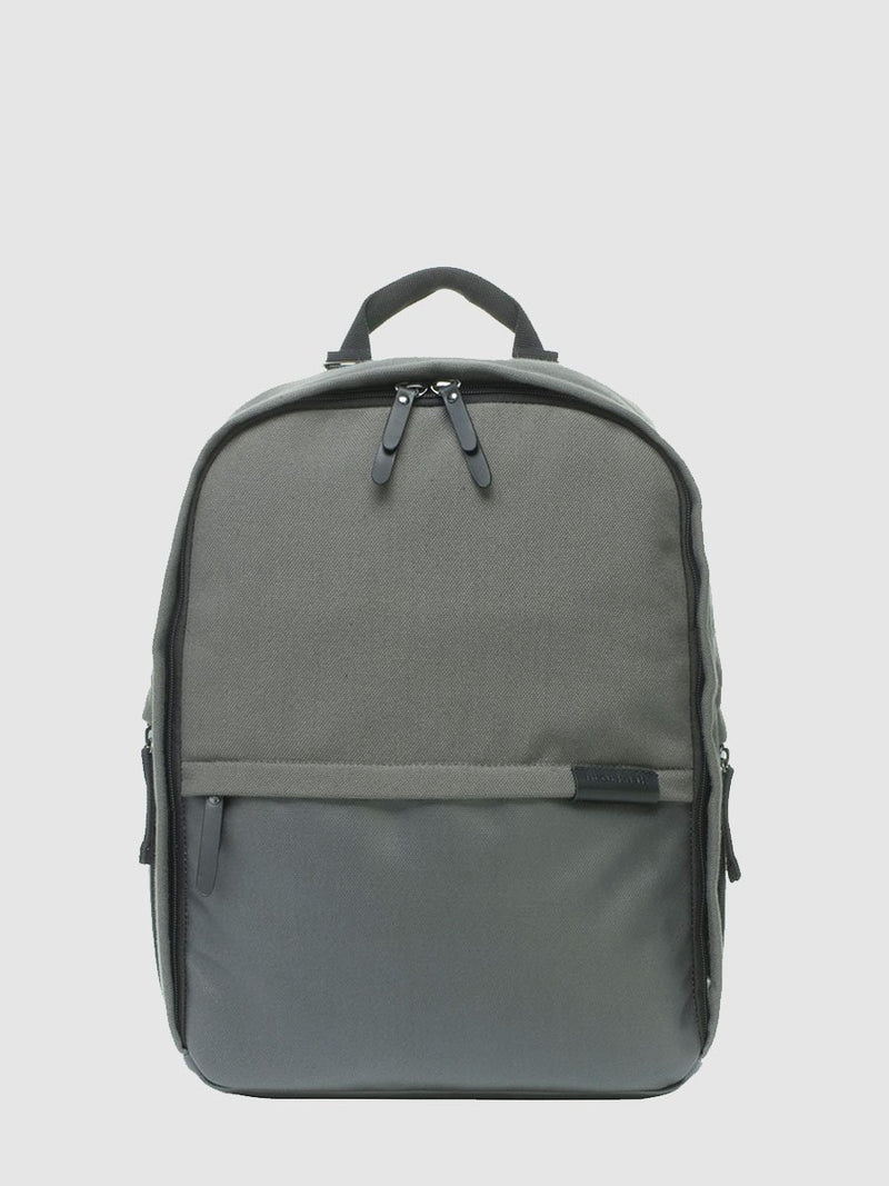 storksak taylor charcoal backpack changing bag, front view