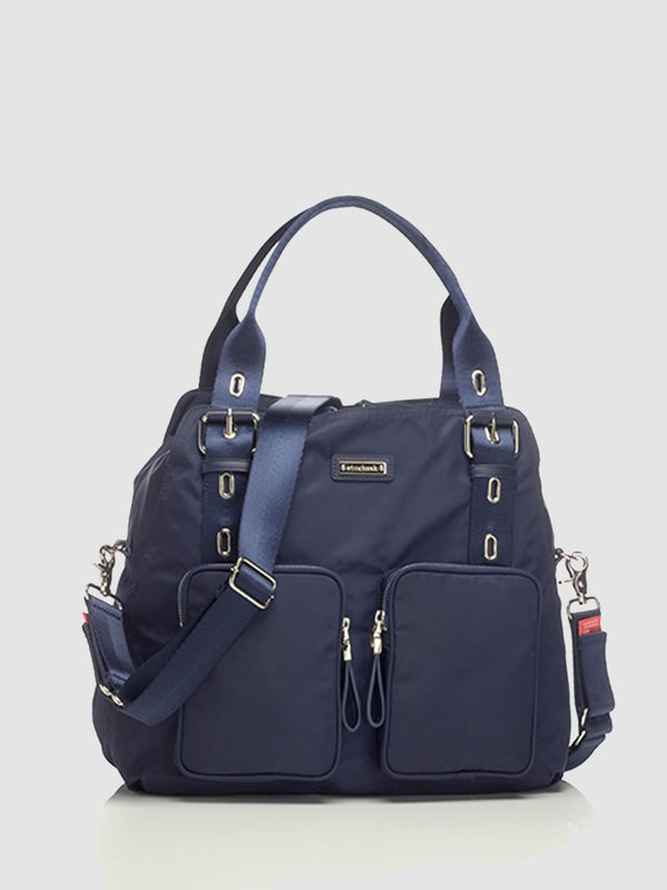 storksak alexa navy changing bag, front view