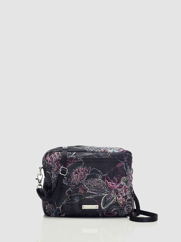 storksak mini-fix floral, small changing bag, front view