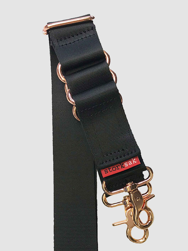 Black & Rose Strap with Built-in Strollerclips