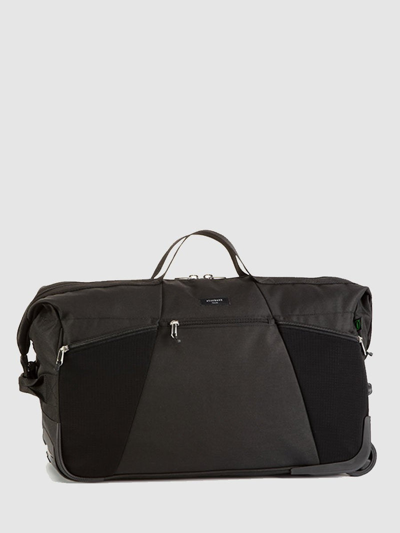 stroksak travel eco cabin carry-on black hospital bag, front view