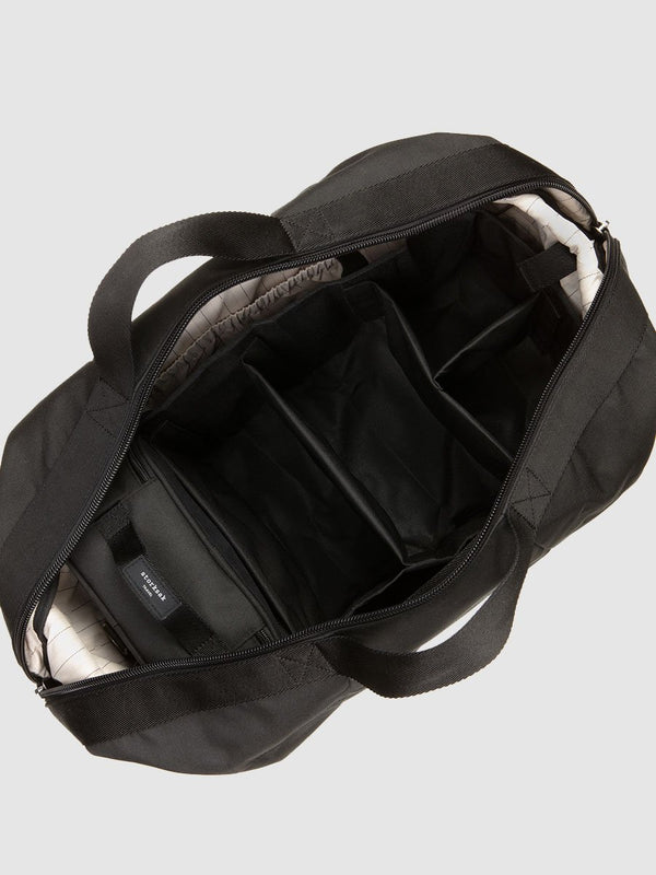 stroksak travel eco cabin carry-on black hospital bag, inside bag showing hanging organiser
