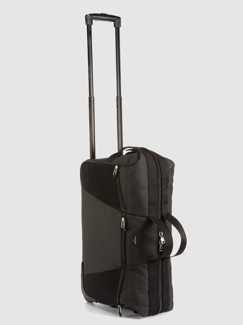 stroksak travel eco cabin carry-on black hospital bag, telescopic handle