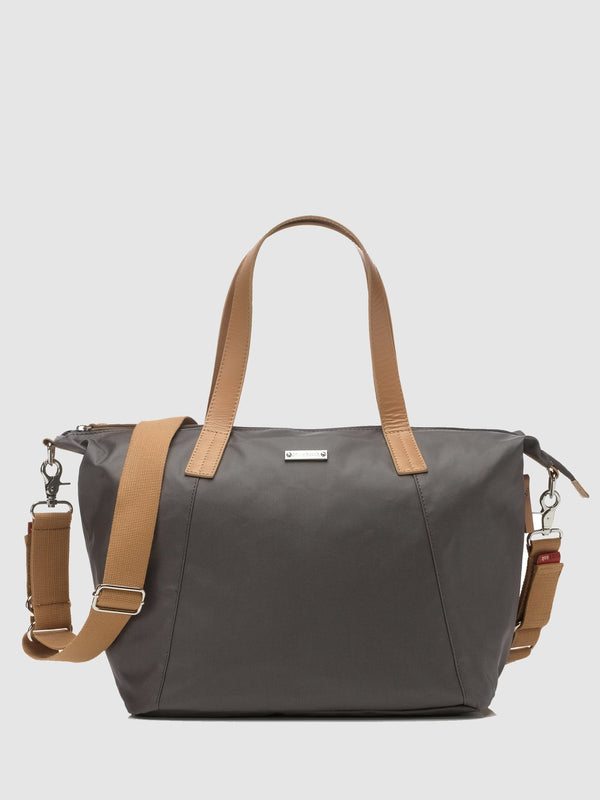 Storksak now award-winning changing bag with matching stroller organiser, front view