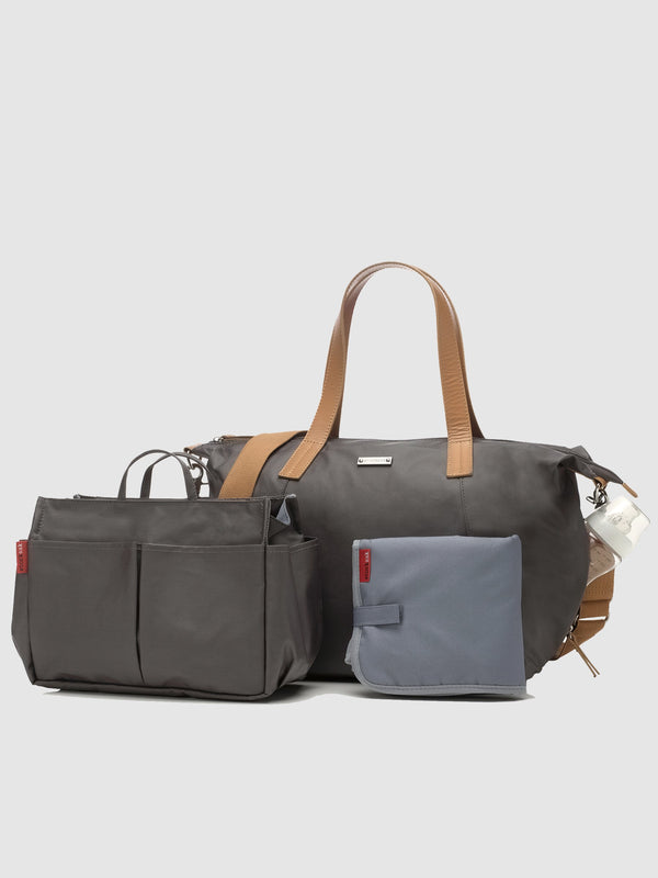 Storksak now award-winning changing bag with matching stroller organiser, and changing mat