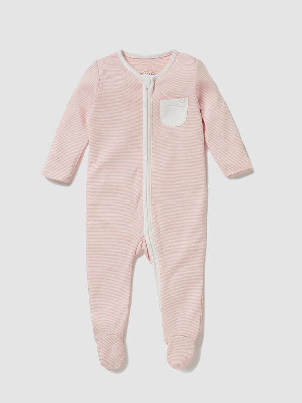 Mori Sleepsuit Blush Stripe