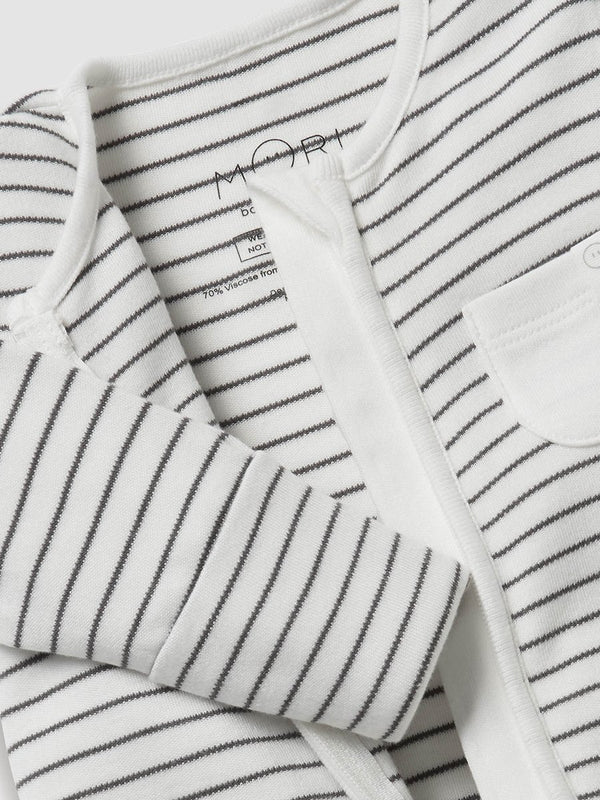 Mori Sleepsuit Grey Stripe