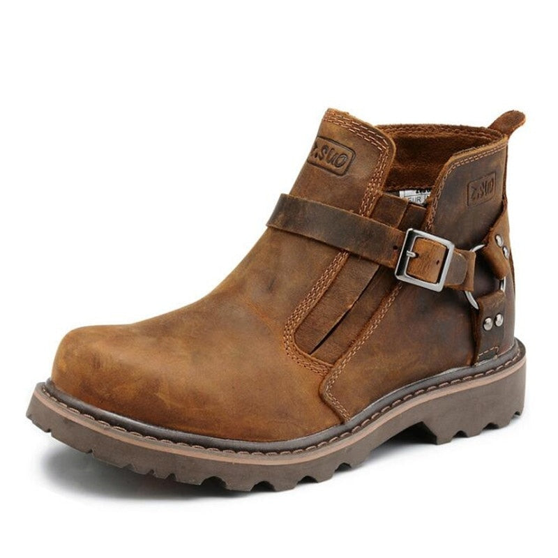 Staple Sole Mens Leather Boots