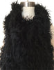 Follow MY Lead, Pure Mongolian Wool Knit Scarf, Jett Black