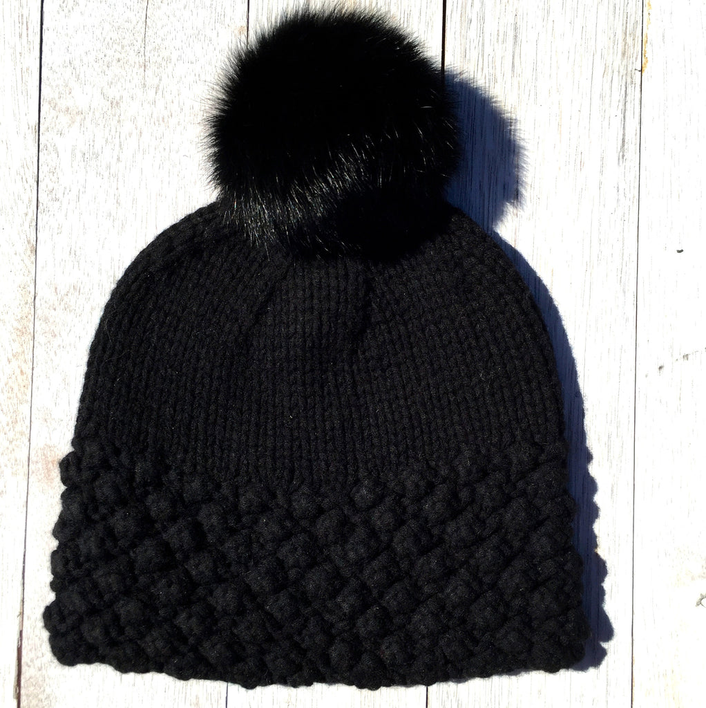 Snow Bunny, 100% Pure Wool, Jett Black