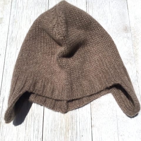 Duane Cool Hunter Beanie, 100% Pure Cashmere, Donkey Brown