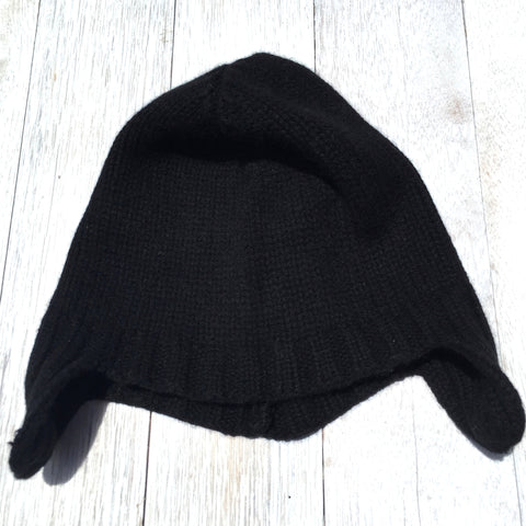 Duane Cool Hunter Beanie, 100% Pure Cashmere, Jett Black