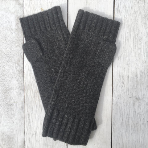 Gotta Hand it to YOU Pure Cashmere Fingerless Glove - Pressed Metal Grey