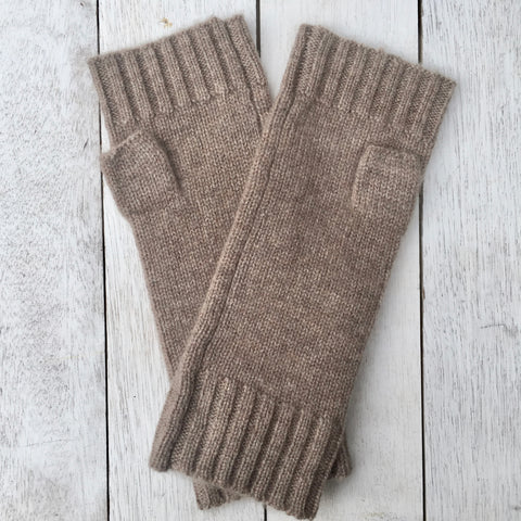 Gotta Hand it to YOU Pure Cashmere Fingerless Glove - Donkey Brown