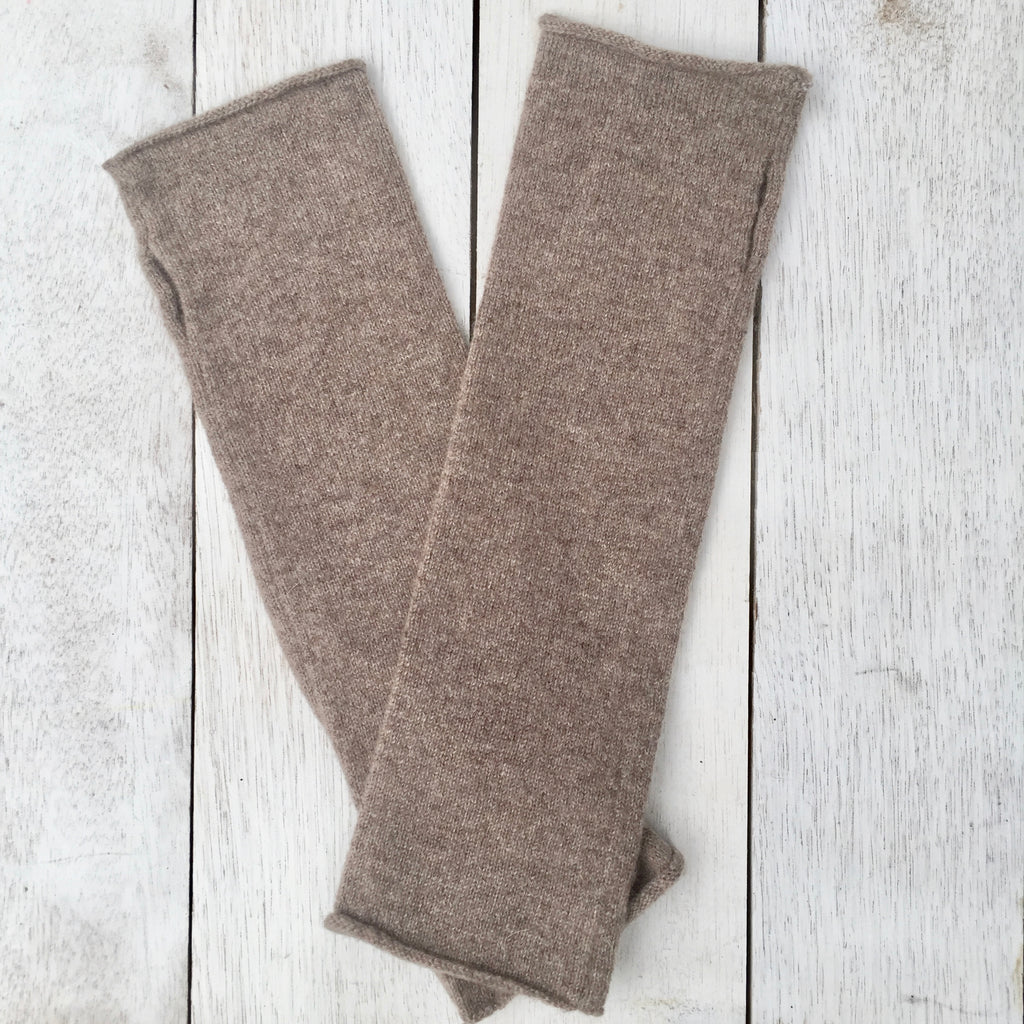 Hand on HEART Pure Cashmere Fingerless Glove - Donkey Brown