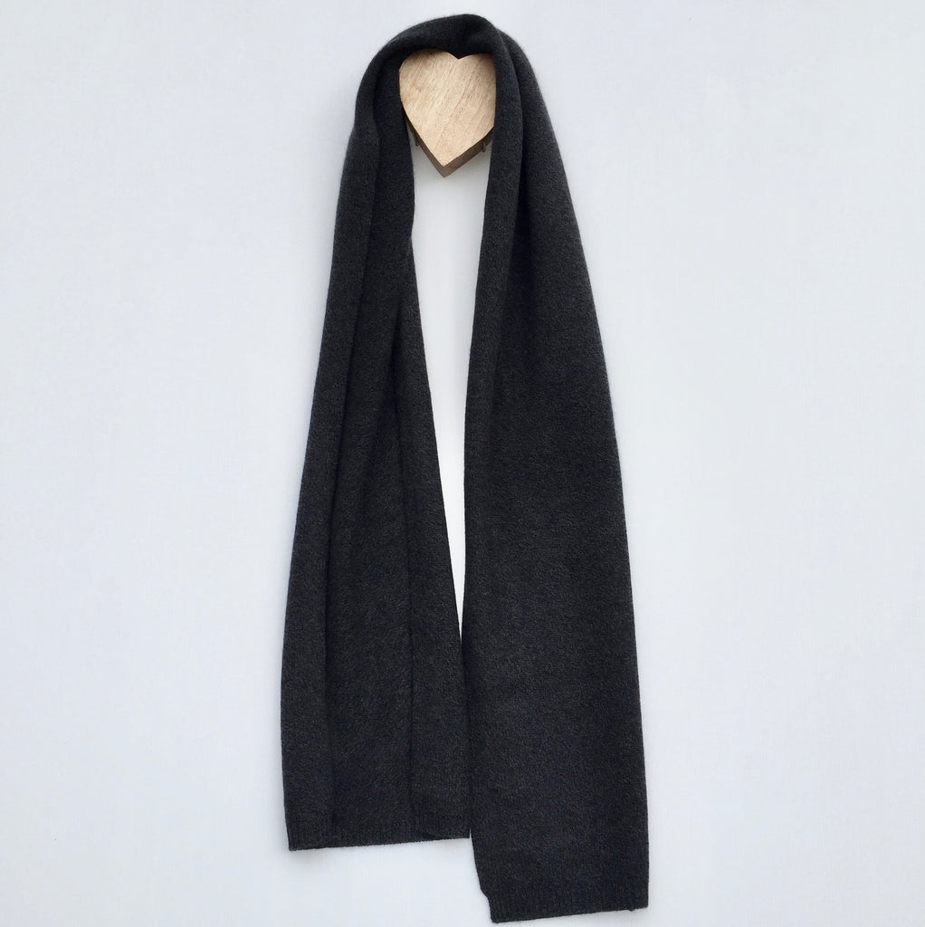 I'm WRAPPED Cashmere Twist Scarf - Twisted Metal Melange