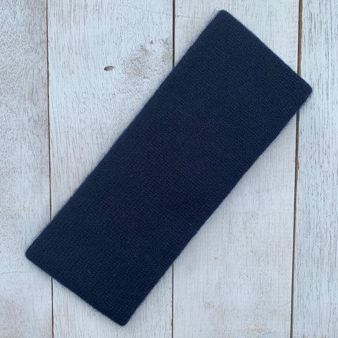 Keep YOUR head HIGH, 100% Pure Cashmere, French Navy