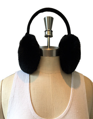 Hear no EVIL, Rabbit Fur and Suede Ear Muffs