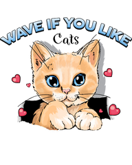 wave if you like cats