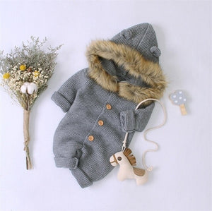 Winter Autumn Hooded Rompers