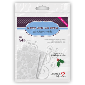 Scrapbook Adhesives 3D Foam Christmas Shapes - Limited Edition (01217)