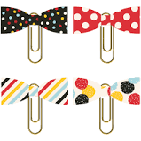 Simple Stories Paper Bow Clips - Say Cheese 4 (10549)