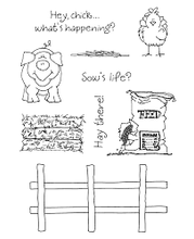 Load image into Gallery viewer, Inky Antics Rubber Stamps Clear Set - Farm Friends #2 (11238MC)
