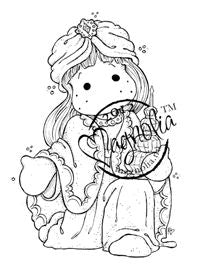 Magnolia Rubber Stamps- EZ Mounted Stamp- Tilda as wiseman (120816024-1)