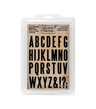 Load image into Gallery viewer, Tim Holtz Idea-ology- Cling Foam Stamps- Block Upper (TH93577)