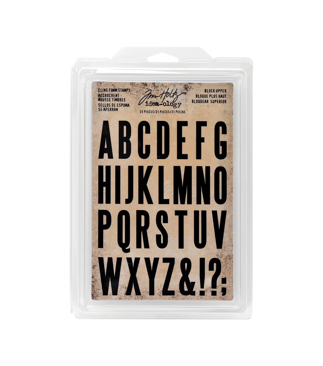 Tim Holtz Idea-ology- Cling Foam Stamps- Block Upper (TH93577)