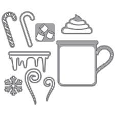 Elizabeth Craft Designs Die Set - Hot Chocolate (1570)