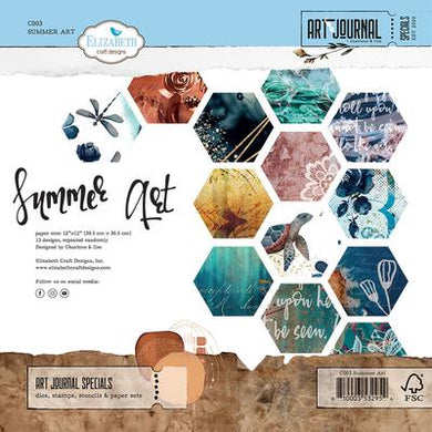 Elizabeth Craft Designs Art Journal Specials Summer Art Paper Pack 12x12 (C003)