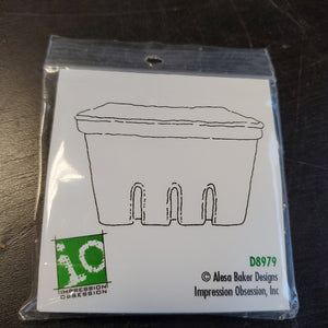 Impression Obsession Rubber Stamps - Pint Basket (D8979)