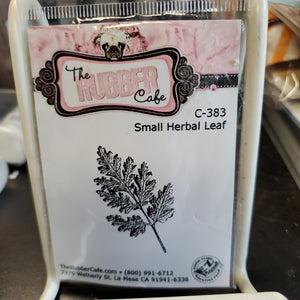 The Rubber Cafe - Small Herbal Leaf (C-383) - Retired