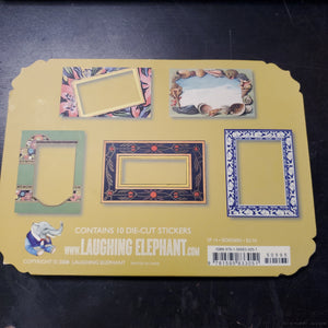 Laughing Elephant Die Cut Stickers - Decorative Borders (SP 14)